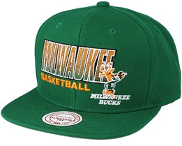 Milwaukee Bucks Score Keeper Green Snapback - Mitchell & Ness