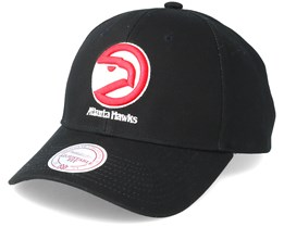 Atlanta Hawks Team Logo 2-Tone 110 Black Adjustable - Mitchell & Ness