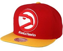 Atlanta Hawks XL Logo 2 Tone Red Snapback - Mitchell & Ness