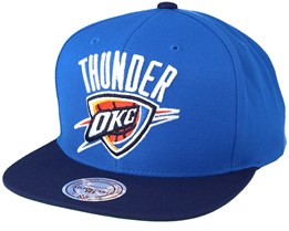 Oklahoma City Thunder XL Logo 2 Tone Navy/Blue Snapback - Mitchell & Ness