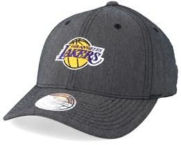 LA Lakers Poly Heringbone Grey 110 Adjustable - Mitchell & Ness
