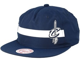 Cleveland Cavaliers Reflective Strope Pinch Panel Navy Snapback - Mitchell & Ness