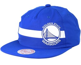 Golden State Warriors Reflective Strope Pinch Panel Blue Snapback - Mitchell & Ness