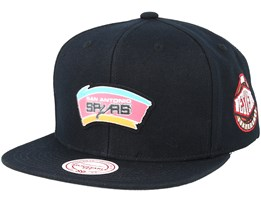 San Antonio Spurs Silicon Grass Hwc Black Snapback - Mitchell & Ness
