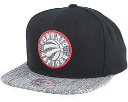 Toronto Raptors Woven Tc Black Snapback - Mitchell & Ness