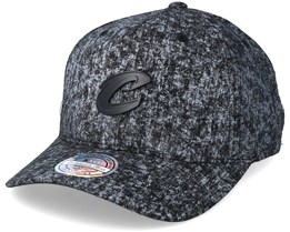 Cleveland Cavaliers Black/White Corrosive Adjustable - Mitchell & Ness