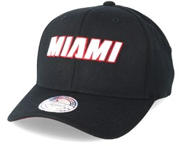 Miami Heat Courtside 2 Black 110 Adjustable - Mitchell & Ness