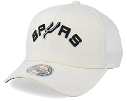 San Antonio Spurs Courtside 2 Cream 110 Adjustable - Mitchell & Ness