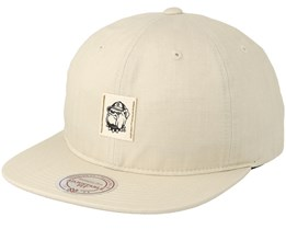 George Town Low Profile Cream Strapback - Mitchell & Ness