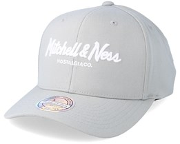 Pinscript High Crown Silver Cloud 110 Adjustable - Mitchell & Ness