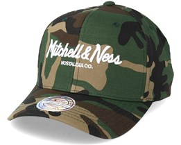 Pinscript High Crown Woodland Camo 110 Adjustable - Mitchell & Ness