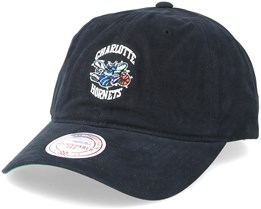 Charlotte Hornets Workmens Strapback Black Adjustable - Mitchell & Ness