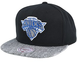 New York Knicks Woven Tc Black Snapback - Mitchell & Ness