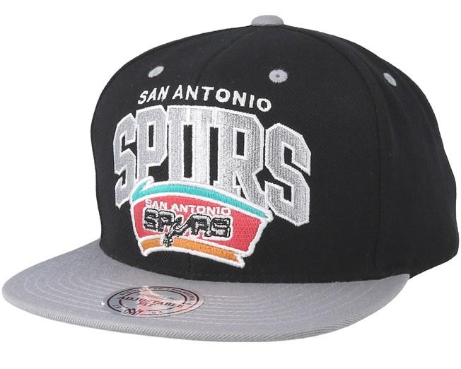 San Antonio Spurs Team Arch Black Snapback - Mitchell   Ness - Bearded Man  Apparel - Hatstore.es 004c982ea38