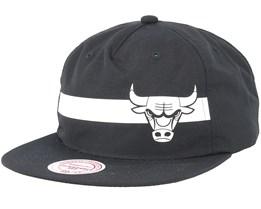 Chicago Bulls Reflective Strope Pinch Panel Black Snapback - Mitchell & Ness