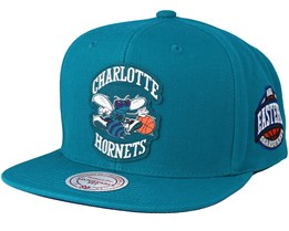Charlotte Hornets Silicon Grass Hwc Teal Snapback - Mitchell & Ness