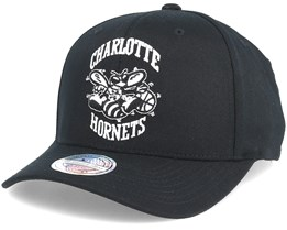 Charlotte Hornets Black & White 110 Adjustable - Mitchell & Ness