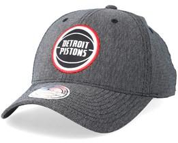 Detroit Pistons Stretch Melange Black/Grey 110 Adjustable - Mitchell & Ness