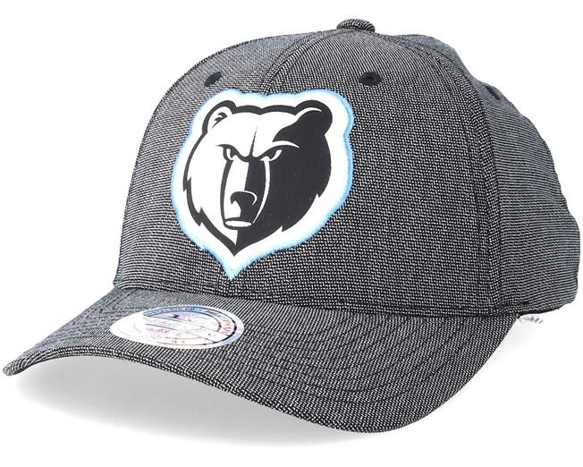 sale retailer d185e 62e6c Memphis Grizzlies Stretch Melange Black Grey 110 Adjustable - Mitchell    Ness