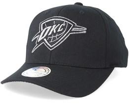 Oklahoma City Thunder Melange Logo 110 Black Adjustable - Mitchell & Ness