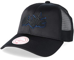 Orlando Magic Satin Current Black/Black Trucker - Mitchell & Ness