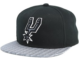 San Antonio Spurs Primary Reflect Black Snapback - Mitchell & Ness