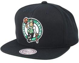 Boston Celtics Wool Solid Black Snapback - Mitchell & Ness