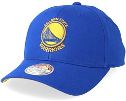 Golden State Warriors Team Arch Low Pro Blue 110 Adjustable - Mitchell & Ness