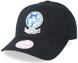 Minnesota Timberwolves Team Logo Low Pro Black Adjustable - Mitchell & Ness