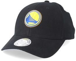 Golden State Warriors Biowashed Zig Zag Black Adjustable - Mitchell & Ness