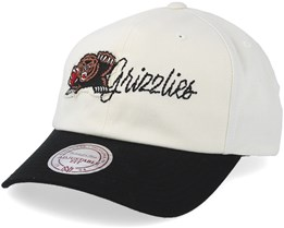 Vancouver Grizzlies Vintage Off White/Black Adjustable - Mitchell & Ness