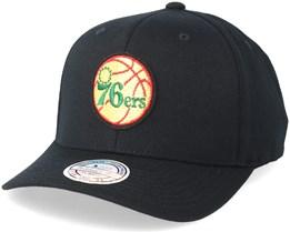 Philadelphia 76ers Luxe Black 110 Adjustable - Mitchell & Ness