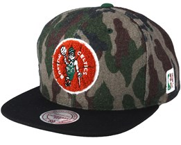 Boston Celtics Flannel Camo Black Snapback - Mitchell   Ness c1087767bf2