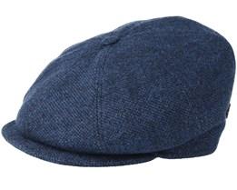 Montreal 100% Eco Merino Wool Blue Flat Cap - MJM Hats