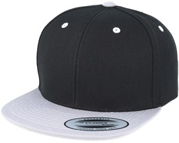 Kids Youth Black/Silver Snapback - Yupoong