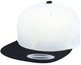 Youth Natural/Black Snapback - Yupoong