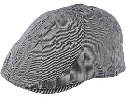 Darwin Duckbill Black/Light Grey Flat Cap - State Of Wow