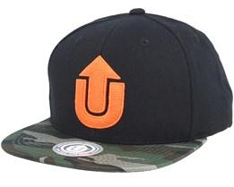 Logo Black/Camo Snapback - Upfront