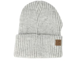 Eastwood White/Light Grey Beanie - Upfront