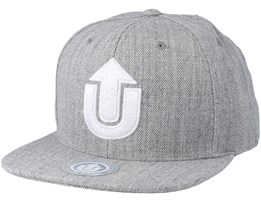 Logo Light Grey/White Snapback - Upfront