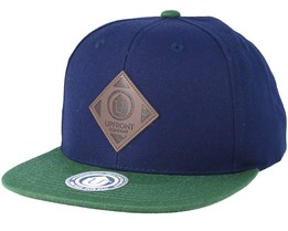 Offspring Navy/Dark Green Snapback - Upfront
