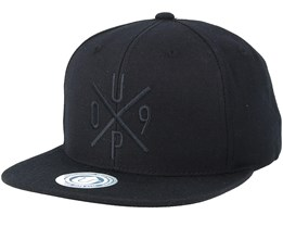 Up09 Cap Black/Black Snapback - Upfront