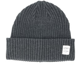 Bridge Dark Grey Melange Beanie - Upfront