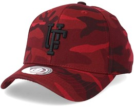 Ambush Baseball Cap Dark Bordeaux/Black Camo Adjustable - Upfront
