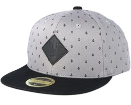 Kids Carson Grey/Black Snapback - State Of Wow