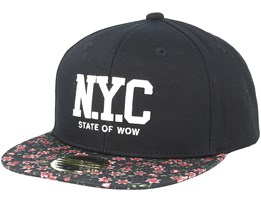 Kids Kini Black/Pattern Snapback - State Of Wow