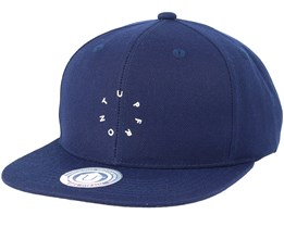 Ground Navy Blue/White Snapback - Upfront