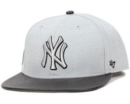 NY Yankees Riverside Grey Snapback - 47 Brand