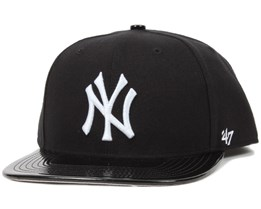 NY Yankees Shinedown Black/White Snapback - 47 Brand