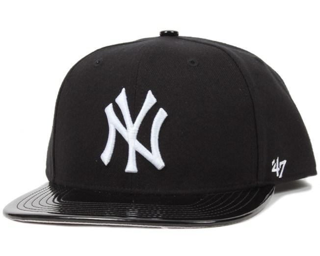 NY Yankees Shinedown Black/White Snapback - 47 Brand